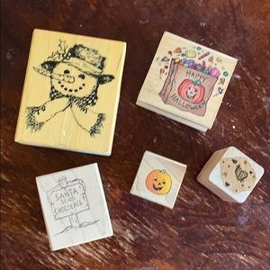 5-pieces miscellaneous holiday stamps